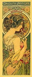 Chocolate Amatller Fashion Lady Girl with Flowers Coffee Tea 1899 By Alphonse Mucha Barcelona Spain 7