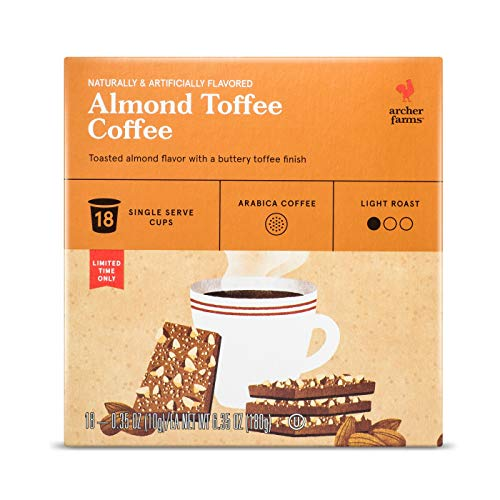 Archer Farms K-cup Almond Toffee Light Roast Coffee 18 Pods, pack of 1