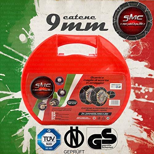 SMC Catene da Neve OMOLOGATE 9mm per Pneumatici GOMME 215/55 R 17 215 55 R 17
