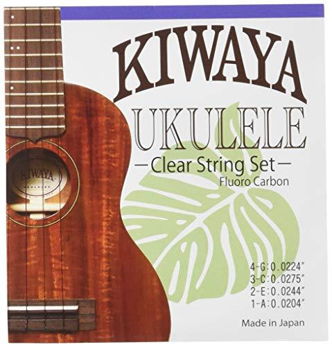【KIWAYA】 KFC フロロカーボン弦 セット (オールサイズ対応 ウクレレ弦 クリア)
