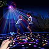SUVEUS Cordless Trampoline Lights with Bluetooth Music, 9 Colors LED Lights with Remote Control for Trampoline 10FT 12FT 14FT 15FT 16FT, Sync up to Music, Trampoline Accessories for Kids Adults