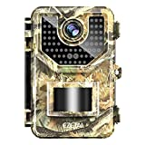 """EZETAI 1520P Trail Camera, 20MP HD Wildlife Monitoring Game Camera 100ft Clear No Glow Infrared Night Vision Waterproof Hunting Cameras with 120° Wide-Angle Detecting and 48pcs LEDs 2.4"""" LCD Display"""