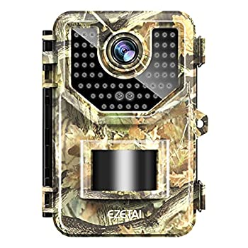 20MP 1520P/1080P Trail Camera,EZETAI Deer Game Camera with Night Vision Motion Activated Waterproof Scouting Hunting Camera with Time-Lapse and Audio 2.4  LCD 48pcs for Wildlife/Garden/Yard Monitoring