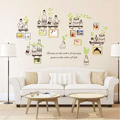 Runinstickers muurstickers, knutselen, decoratie, creatieve Mason Jar planten, muurstickers, raamstickers, keuken, tegels voor decoratie van het huis