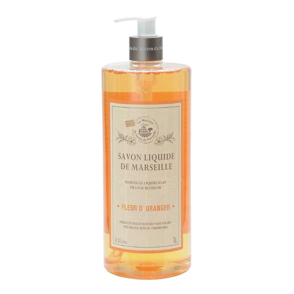 モスク男性親愛なノルコーポレーション マルセイユ石鹸 リキッドソープ 1L オレンジの香り MLL-2-3