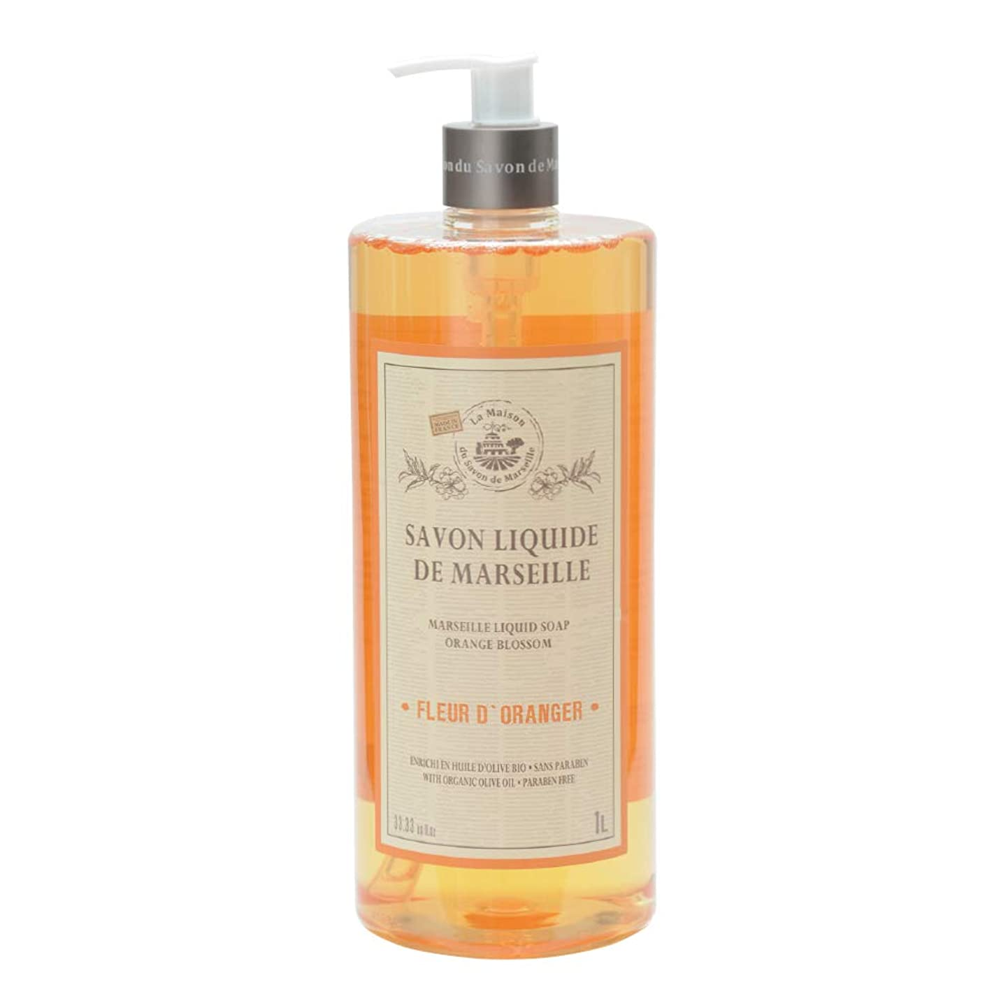 事故フェードアウトスカウトノルコーポレーション マルセイユ石鹸 リキッドソープ 1L オレンジの香り MLL-2-3