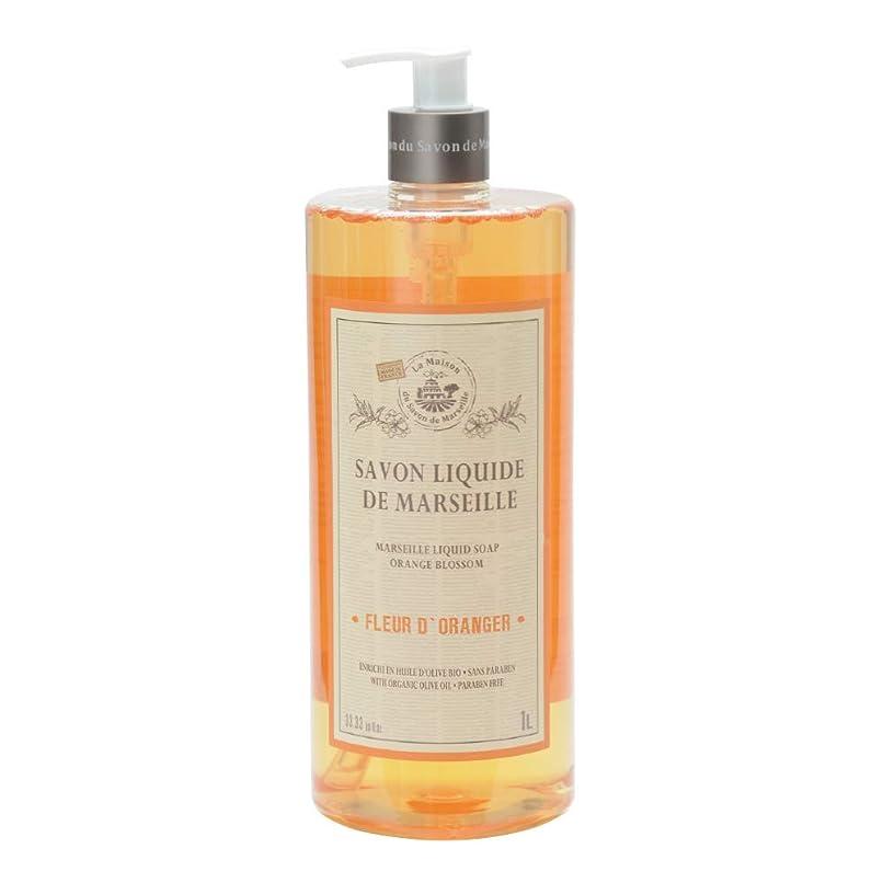溶かす境界準備するノルコーポレーション マルセイユ石鹸 リキッドソープ 1L オレンジの香り MLL-2-3