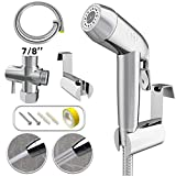 ZGO Handheld Bidet Sprayer for Toilet, with Adjustable Pressure Control for Feminine Wash, Baby Diaper Cloth and Shower Sprayer for Pet, Wall or Toilet Mount(Only Compatible with 7/8' Toilet)