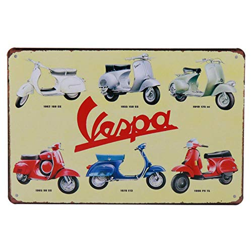 30X20cm Carteles Metalen Tin teken Vespa Motor Kuifje Bus Bar Rustieke Plaque Pub Bar Decoratie Home Garage Decor, B