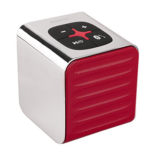 NINETEC SoundCube Bluetooth Speaker Lautsprecher Sound Box portabel in Rot