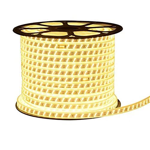 JXCAA LED Luces De Tiras Regulables, Luces LED 5 Metros, Tira De Luz para El Hogar, Sala De Estar De 220 V, Tira De Luz De Techo, Tira De Luz Impermeable Al Aire Libre