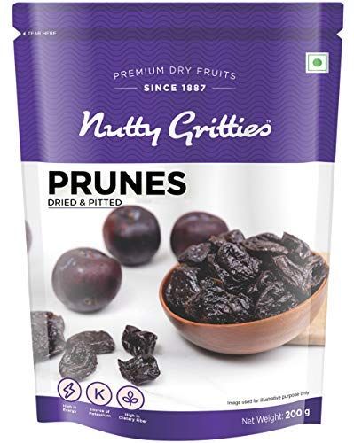 California Pitted Prunes - Dried Fruit Plums 200GMS