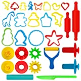 KIDDY DOUGH Tool Kit for Kids - Party Pack w/Animal Shapes - Includes 24 Colorful Cutters, Molds,...