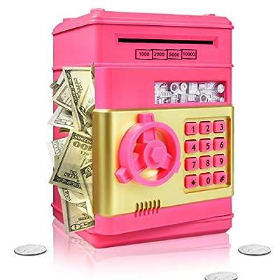 Surejoy Piggy Bank for Boys Girls, Large Electr...