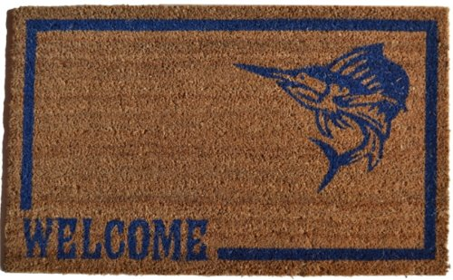 Imports Décor Vinyl Backed Coir Doormat, Swordfish, 18 by 30-Inch