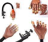 Takestop® Main d'entraînement articulée pour le nail art avec bras flexible et fixation par pince-étau à visser à une table