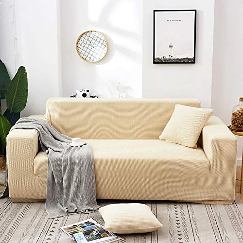 QWEASDZX Funda De Sofá Elástica Funda De Sofá De Impresión De Moda Funda De Sillón Funda De Protección De Muebles De Spandex 2 Seater(145-185cm)