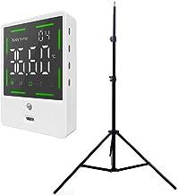 MXXQQ Infrarrojos La Temperatura del LCD Frente con 2M Trípode, 1S Medición, Inducción Automática, Alarma Automática, con Preciso De La Temperatura por Infrarrojos Montado En La Pared Measuremeng