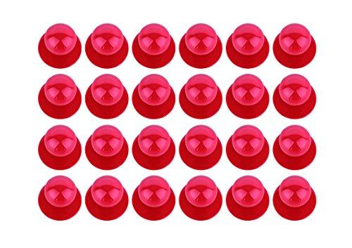 DESERMO 24x Kugelknöpfe für Kochjacken im Vorrats-Set - Kochjackenknöpfe - Erhältlich (Rot)