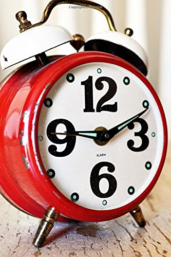 A Vintage Cherry Red Alarm Clock Time Flies Journal: 150 Page Lined Notebook/Diary
