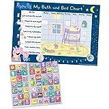 Paper Projects- Peppa Pig - Tabla de recompensas para el baño y la Hora de Dormir y 56 Pegatinas Brillantes Reutilizables (01.70.30.023)