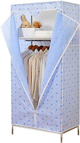 Kleiderschrank, Stahlrahmen, Größe Verst ung, für Erwachsene, faltbar, einfacher Kleiderschrank, Einzelbett, Doppeltrompete Modern Large 4