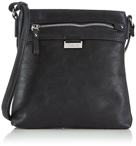 Gabor Umhängetasche Damen Ina, Schwarz (schwarz 60), 23x23x4 cm, Gabor Handtasche Damen