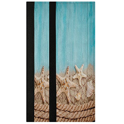 Oarencol Seashell Starfish - Juego de 2 fundas para manija de puerta para frigorífico, horno, lavavajillas