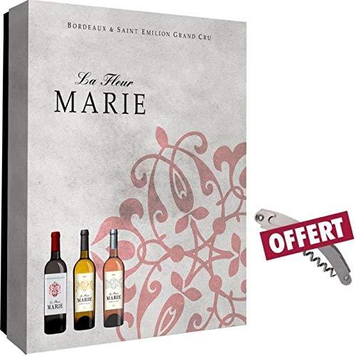 Caja vacía flor Marie 3 botellas + sumelier