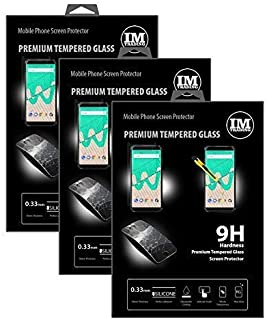 cofi1453 3X pansarskydd glas 9H härdat glas display skydd folie display glas skärmskydd kompatibel med WIKO View MAX
