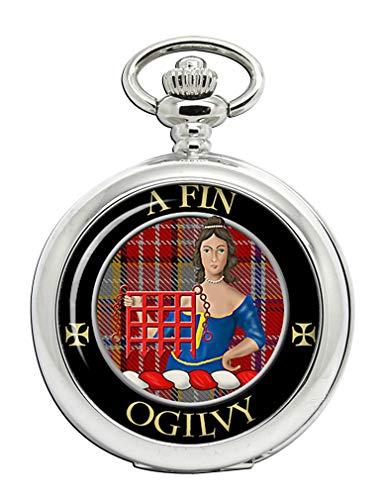 Ogilvy escocés Clan escudo Full Hunter reloj de bolsillo