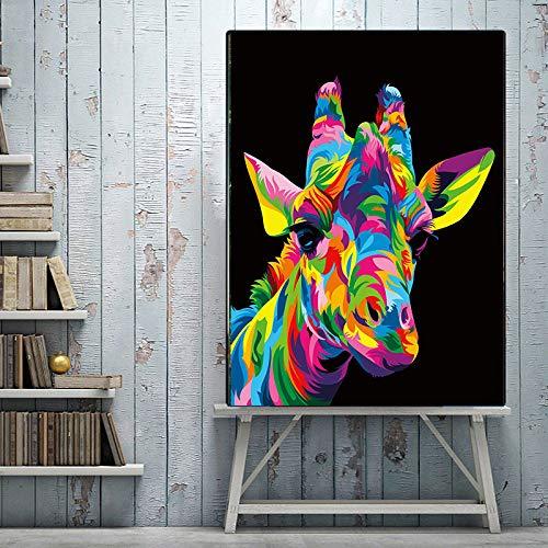 classement un comparer Sanzangtang abstrait coloré graffiti art toile peinture léopard peinture non-cadre 60X75 cm