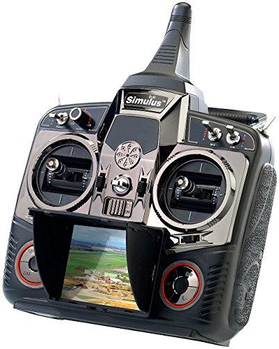 Simulus Zubehör zu Drohne RC-Modell: FPV Profi-Fernsteuerung DEVO-F7 2,4 GHz DSSS (GPS-Drohne Live-Videoübertragung)