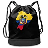 zhangyuB Flag Map of Ecuador Bolsa con cordón For Mens and Womens, 100% Polyester Original Duffel Bags