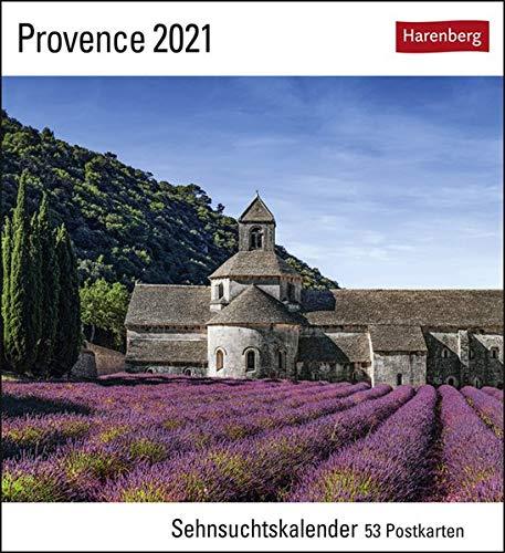 Provence Sehnsuchtskalender 2021 - Postkartenkalender mit Wochenkalendarium - 53 perforierte Postkarten zum Heraustrennen - zum Aufstellen oder ... x 17,5 cm: Sehnsuchtskalender, 53 Postkarten