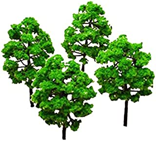 WINOMO Scale Trees Diorama Models Model Train Scenery Architecture Trees Model Railroad Scenery Green Mini Tree Set Scenery Landscape Model Trees 25pcs