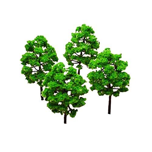 VORCOOL 25 Stück Grün Bäume Modell Ausschmückungsteile Set