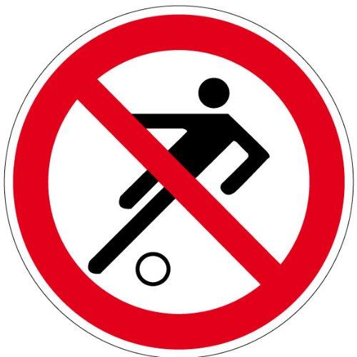 Verbotszeichen - Fußball Spielen verboten - Aluminium - Ø 20 cm