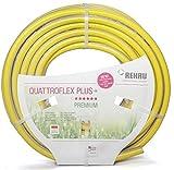 REHAU Gartenschlauch QUATTROFLEX Plus+ ökologisch unbedenklich, extrem druckfest, gelb, 32mm (1 1/4') 25m