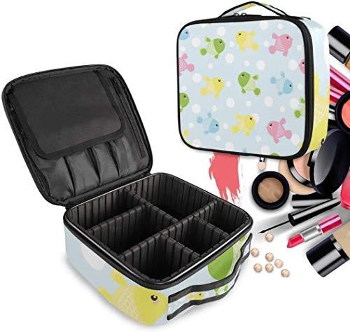 Cosmetische HZYDD Kleurrijke Vis Leuke make-up tas Toilettas Rits Make-up Tassen Organizer Pouch voor Gratis Compartiment Vrouwen Meisjes tas