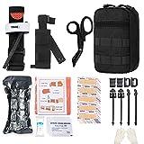 GRULLIN MOLLE IFAK Trauma Kit, botiquín de Primeros Auxilios táctico, EMT de Emergencia para Viajes en Coche,...