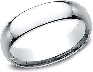 Sponsored Ad - Eros Jewelry Wedding Ring, 14K White Gold Wedding Band for Men, Light Comfort Fit 6 mm Men's Wedding Band