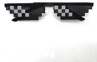 Ocamo anteojos de sol Thug Life 8 bits MLG con píxeles para jugadores de Minecraft, 6 Grid