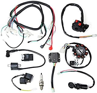 WonVon Complete Electric Stator Engine Wiring Harness Loom with Full Copper Wire For Chinese Dirt Bike ATV QUAD 150-250 300CC
