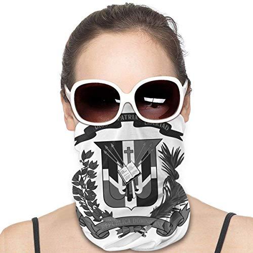 KDU Fashion Head Wrap,Escudo De Armas De La República Dominicana, Abrigo para La Cabeza, Calentadores De Cuello Sin Costuras para Montar A Caballo,25x50cm