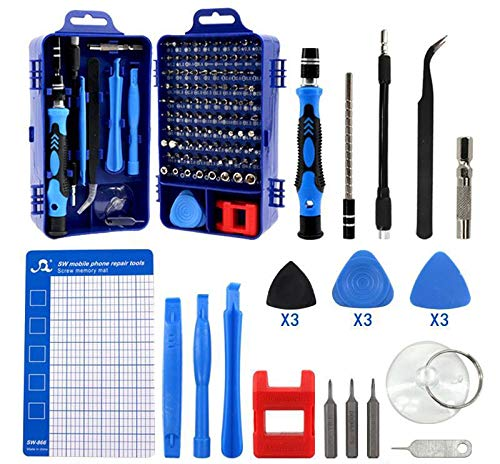 HPMAISON 122 in 1 Precision Screwdriver Set, Magnetic Mini Screwdriver Set DIY Repair Tools Kit for iPhone, Laptop, PC, Watch, Glasses and Other Electronics with Magnetic Memory Mat