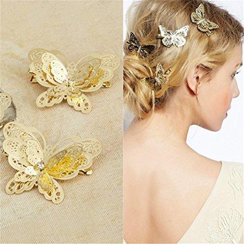Drawihi 5 Stück Schmetterling Form Haarclips Damen Haarklammer Mädchen Haarspangen Verwendet für Hochzeit, Party, Bankett, Cocktail Dekoration