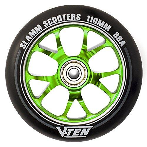 Slamm Scooters V-Ten II Räder, Unisex, Erwachsene, Unisex, SL582, grün, 110 mm