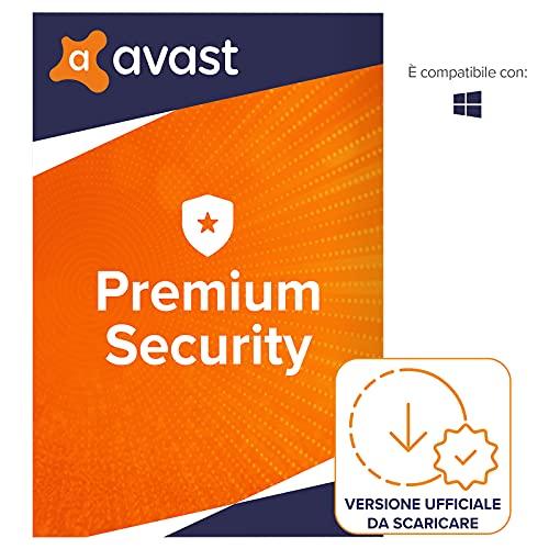 Avast Premium Security - Protezione antivirus - Download | 10 Dispositivo | 1 Anno | PC/Mac | Codice d'attivazione via email