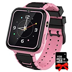 Smart Watch for Kids Boys Girls, 1.57'' HD Touch Screen 7 Puzzle Game Music Player Smartwatch with Alarm Clock Recorder Torch for Children Birthday Learning Gifts Teen Students ( Pink)